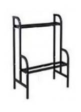 028 - Pedestal Rack medio preto para 6 máquinas de 1